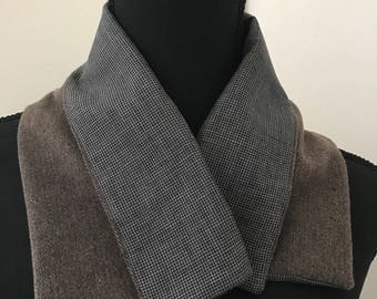 Wool grey and black wrap