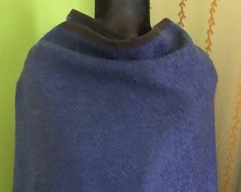 Light blue wool cape