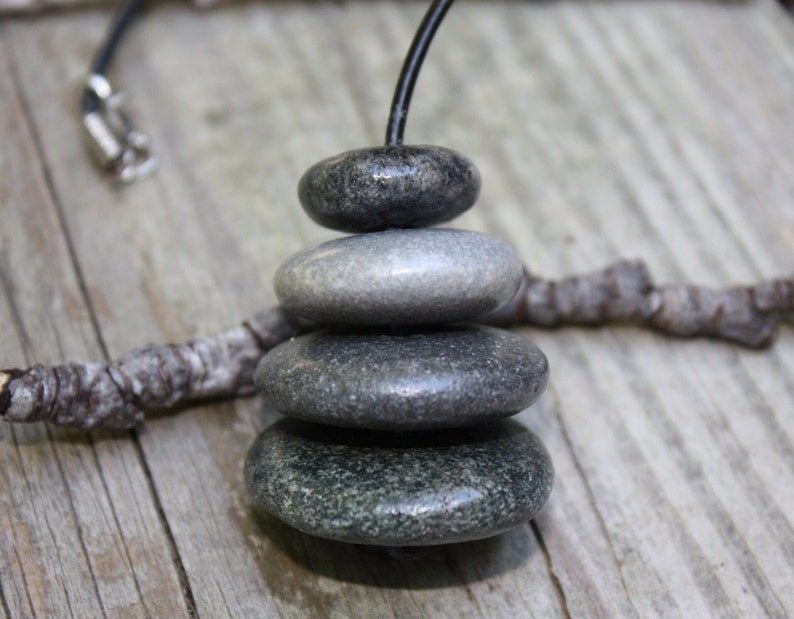 Stone cairn rear view mirror charm, basalt stone, zen rock cairn, Lake  Superior stones, river rock cairn, stacked stones