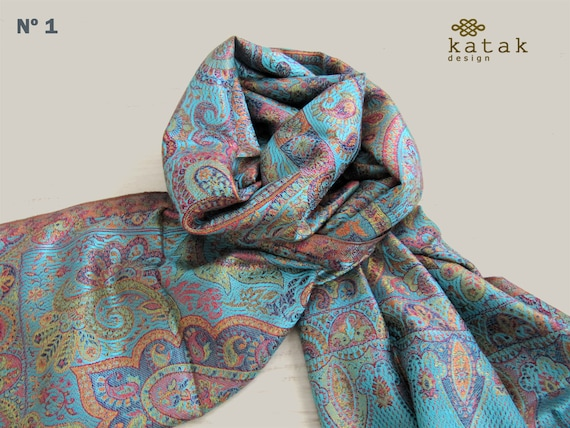 la compra auténtico ventas especiales diversificado en envases pañuelos mujer pura seda, chal de boda, pañuelo de fiesta 70 x 180 cm
