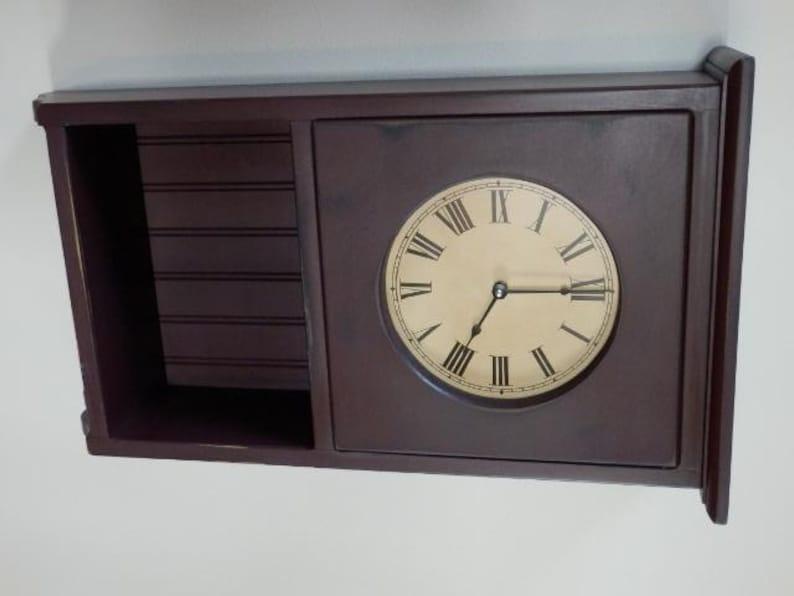 Primitive Homestead display Clockwall clockfarmhouse. image 0