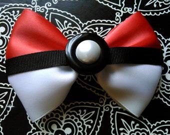 Pokemon Pokeball Hair Bow