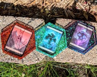 Magic the Gathering MTG TCG Full Art Land Coasters, Trinket or Dice Trays