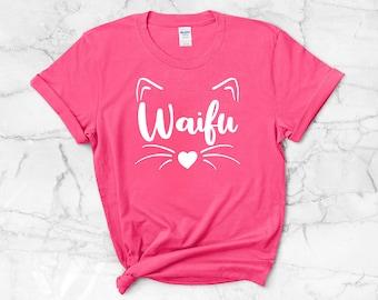 Waifu Kitty T-Shirt | Anime Lover Shirt ∙ Nerdy and Girly Otaku Tee ∙ Anime Cat T Shirt ∙ Anime Wifey Gift