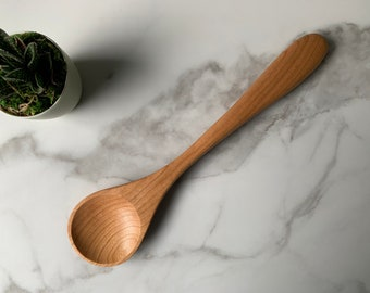Wooden Spoons hand carved from Plum Wood  Kitchen Utensils  Large Spoon  OOAK 133-136