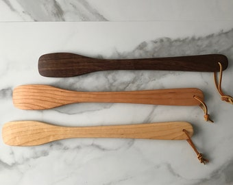 13 Inch Wood Mixing Spatula - Cake Spatula - Fudge Spatula - Made in Maine - USA