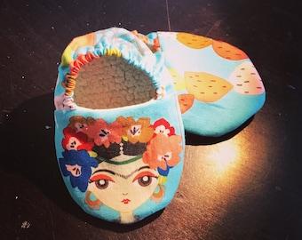 Frida Kahlo baby shoes