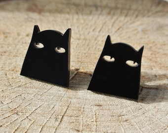Sneaky Peeky Kitty Stud Earrings