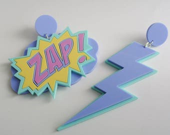 ZAP! Pastel Superhero Earrings