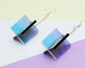Iridescent X Earrings