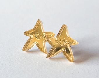 Smiling Star Stud Earrings