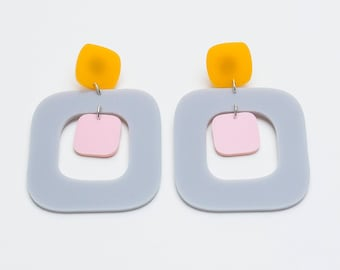 Irregular Square Earrings