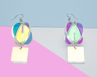 Iridescent Sphere Earrings