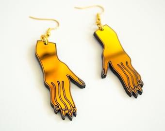 Hand Earrings Iridescent
