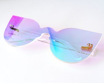 Iridescent Cat Eye Glasses