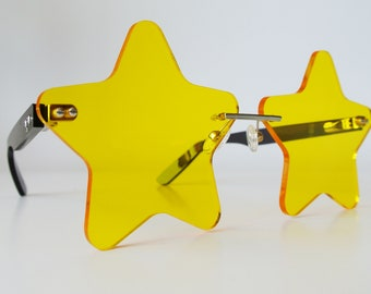 Yellow Starry Eyed Glasses