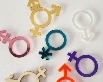 Gender Symbol Earrings