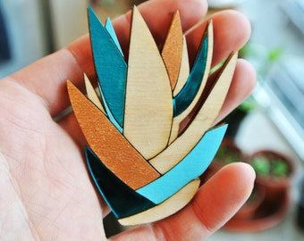 Aloe Succulent Brooch