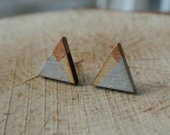 Asymmetry Triangular Stud Earrings (Small)