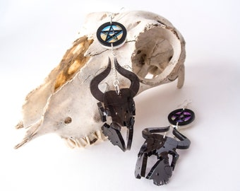Sheep Skull Earrings