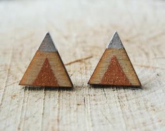 Triangle Geometric Stud Earrings