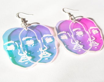 2 Faced Earrings