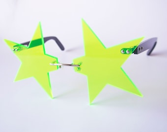 Neon Pointed Star Glasses