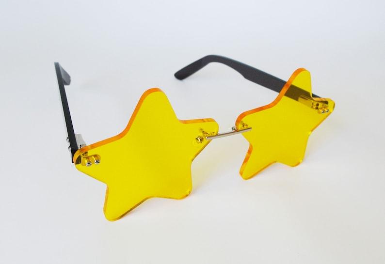 Iridescent Star Glasses, Eyewear, club kids, clubwear, rave, party, pastel