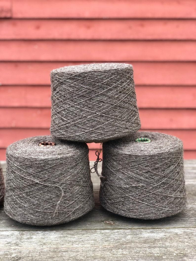 3lb  Cone of Natural Sheep's Wool - Medium Gray // Yarn Cone // Yarn //  Wool // Natural Wool // Sheep's Wool // 3 DK Light Worsted // Knit