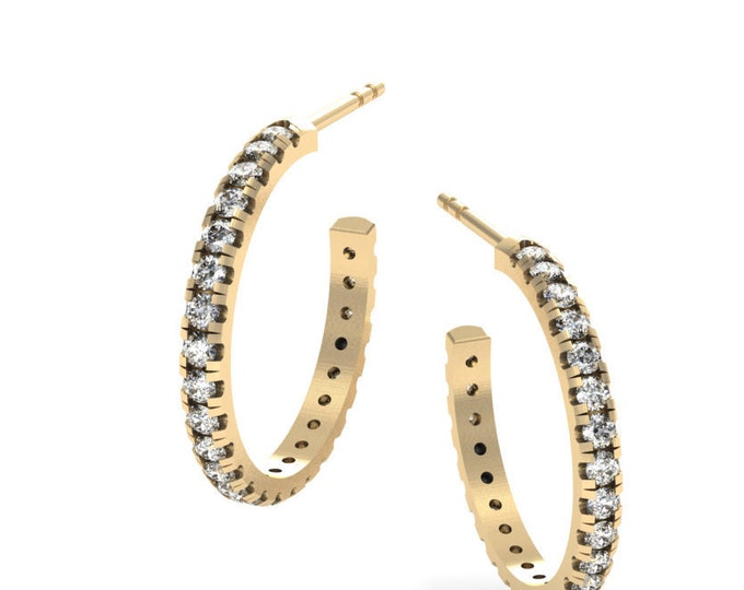 18k Yellow Gold Earrings with , Diamond Item # LAEFW-000-X-107