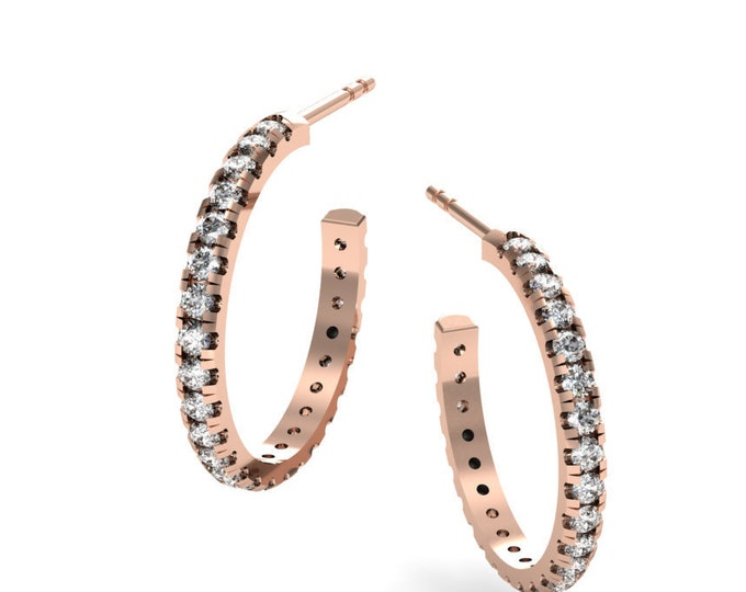 18k Rose Gold Earrings with , Diamond Item # LAEFW-000-X-108
