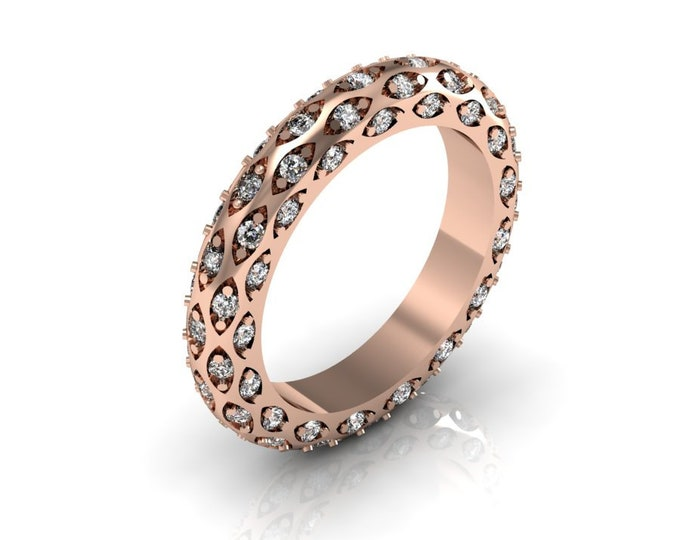 14k Rose Gold Classic Engagement or wedding Ring with Diamond  Item # RFW000-X-292