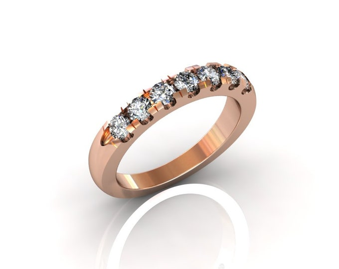 14k Rose Gold Classic Engagement or Wedding Band with Diamond Item # RFM-000-X-100