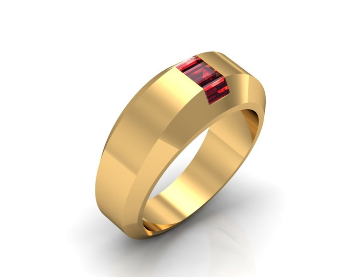 HIll ST. 14K Yellow Gold Classic Engagement or Wedding Ring With Ruby Item # LARFW -00651