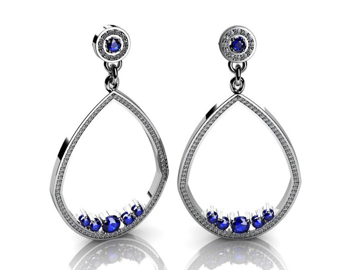 Shandelier-14k White Gold Classic Shandelier Earrings with Diamond Item # LAEFW-00825