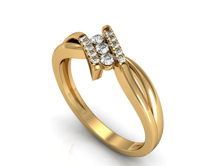Big Promotion-18k Yellow Gold Classic Engagement or Wedding Band with diamond for Big Sale Discount Item # LARFW-00809