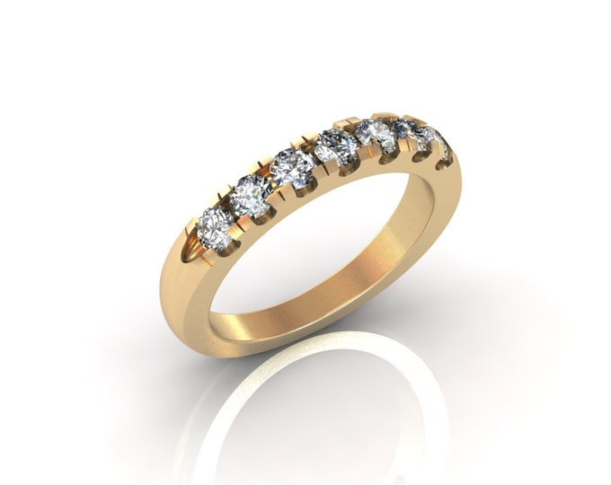 18k Yellow Gold Classic Engagement or Wedding Ring with Diamond Item # RFM-000-X-101