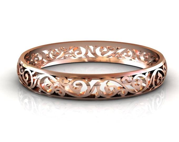 14k Rose Gold Bangles Bracelets Item # BFW-000-X-75