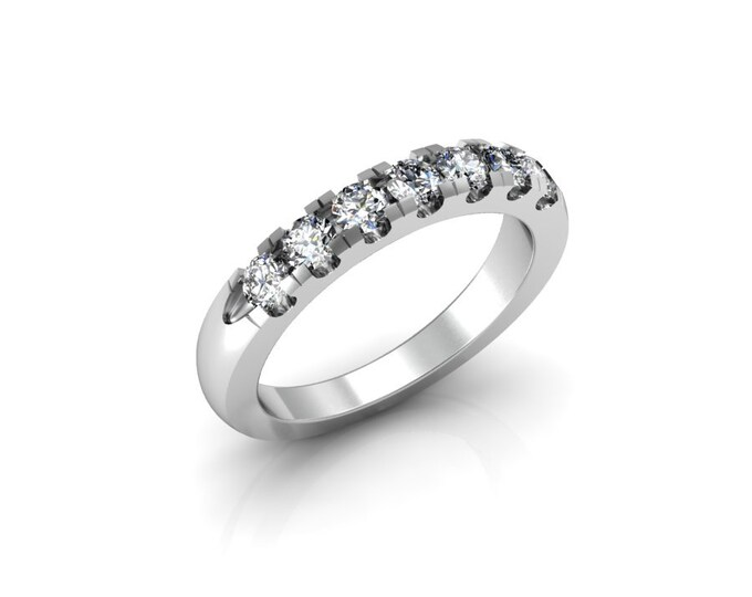18k White Gold Classic Engagement or Wedding Ring with Diamond Item # RFM-000-X-102