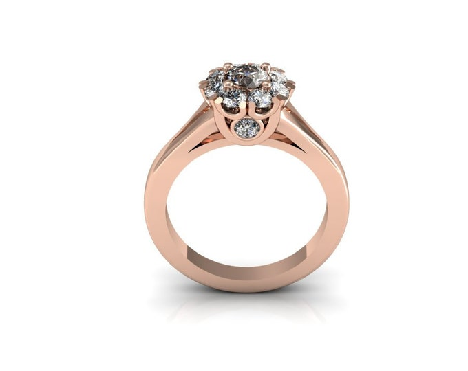 14k Rose Gold Wedding or Engagement Ring with Diamond Item # LAFW-000-X-169