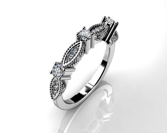14k White Gold Classic Engagement or Wedding Ring with Diamond  Item # RFM-000-X-78