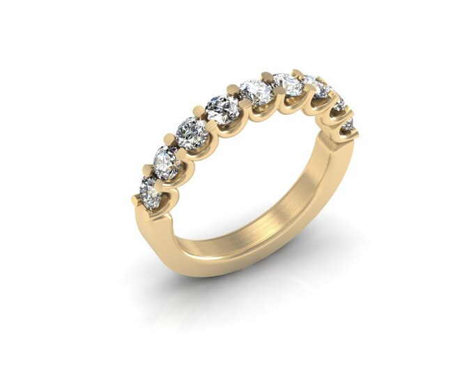 14k Yellow Gold Wedding or Engagement Ring with Diamond Item # LAFW-000-X-140