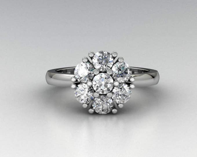 Platinum-950 Classic Engagement or Wedding Ring with Diamond Item # RFW-000X-1