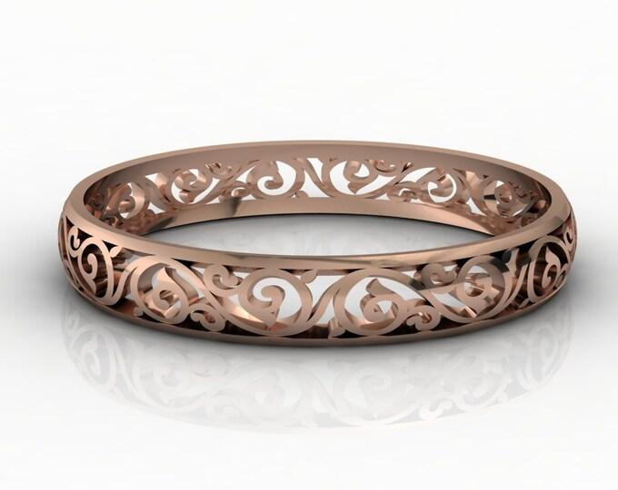 14K Rose Gold Bangles Bracelets Item # BFW-000-X-383