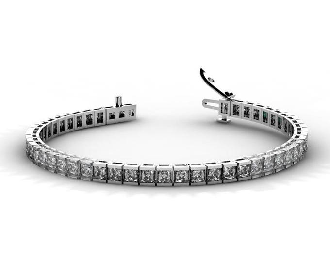 14k White Gold Tennis Bracelets  with  White Zirconia  Item # BFW-000-X-65