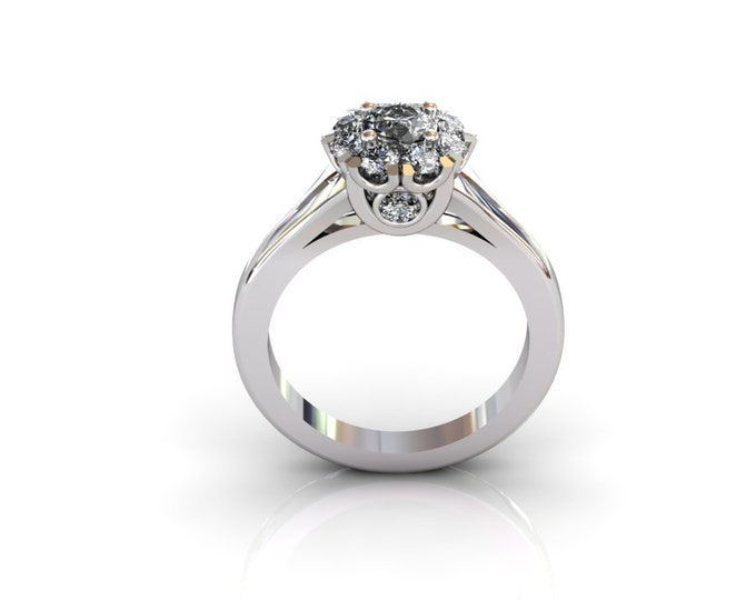 14k White Gold Wedding or Engagement Ring with Diamond Item # LAFW-000-X-170
