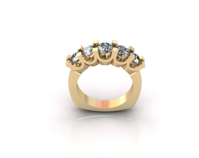 14k Yellow Gold Engagement or Wedding Ring with Moissanite Item # lAFW=000-X-127