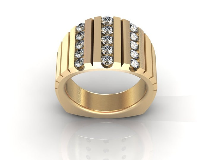 14k Yellow Gold Classic Wedding or Engagement Ring with Diamond Item # LAFW-000-X-366