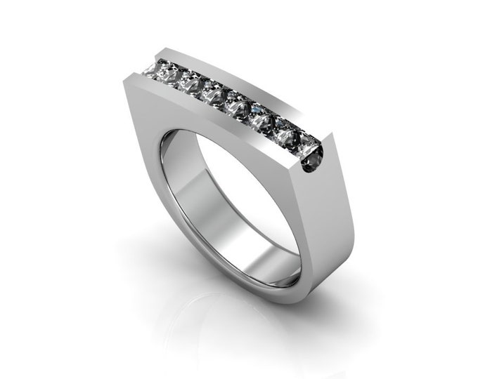 14k White Gold Engagement or anneversary Ring with Diamond Item # LAFW-000-X-133
