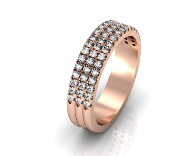 14k Rose Gold Engagement or Wedding Bands wite Diamond  item # LARFW-000-X-115